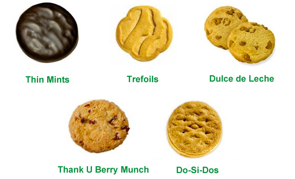 The top 5 least fattening GIRL SCOUT COOKIES