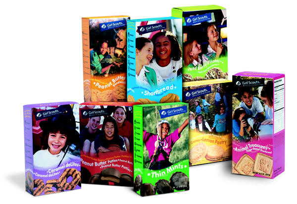 girl scouts will now only sell six varieties of girl scout cookies the girl scout cookie box redesign plus a look back at past designs photos 600x412