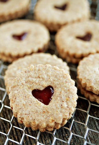 Cute Linzer Heart Cookies