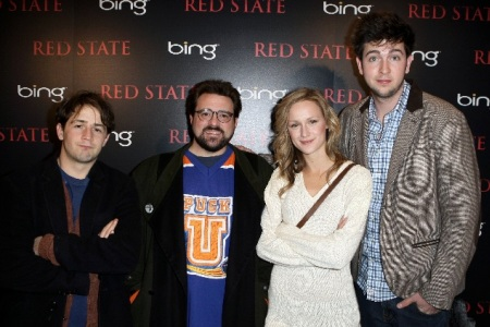 Kevin Smith and his Red State cast