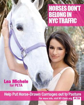 Lea Michele Glee-fully supports PETA