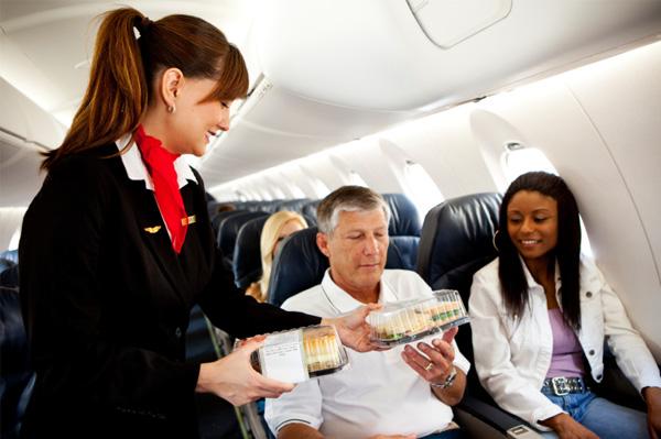la nourriture dans l'avion