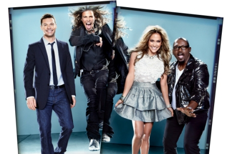 Ryan Seacrest, Steven Tyler, Jennifer Lopez and Randy Jackson