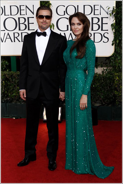 Angelina Jolie And Brad Pitt Golden Globes