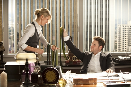 Cameron Diaz and Seth Rogen in The Green Hornet