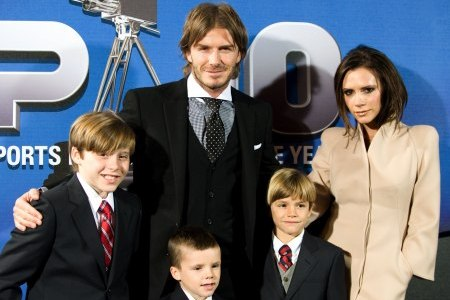 David and Victoria Beckham and their family