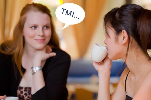 Two girlfriends talking over coffee.