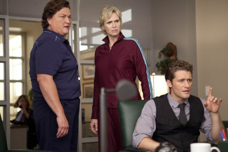 Glee stars Jane Lynch and Matthew Morrison