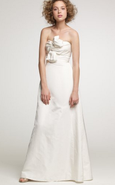 J. Crew bow monde gown