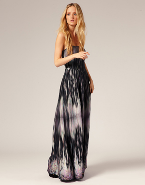 Printed-strapless-maxi-dress