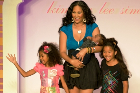 Kimora Lee Simmons, her two daughters and son