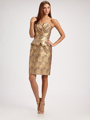 Gold-strapless-dress