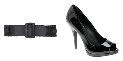Black-belt-black-peep-toe-shoes