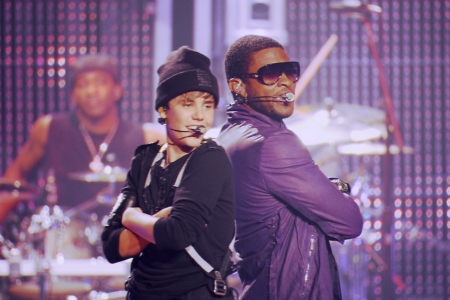 Justin Bieber and Usher in Never Say Never