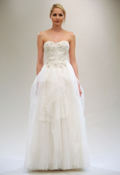 Reem Acra A-line bridal gown