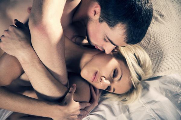 Romantic coupie in bed