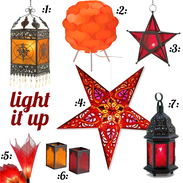 Light it up with red, orange, yellow