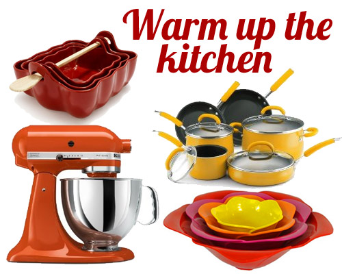 Top 10 Warm up your kitchen with yellow, orange and red!