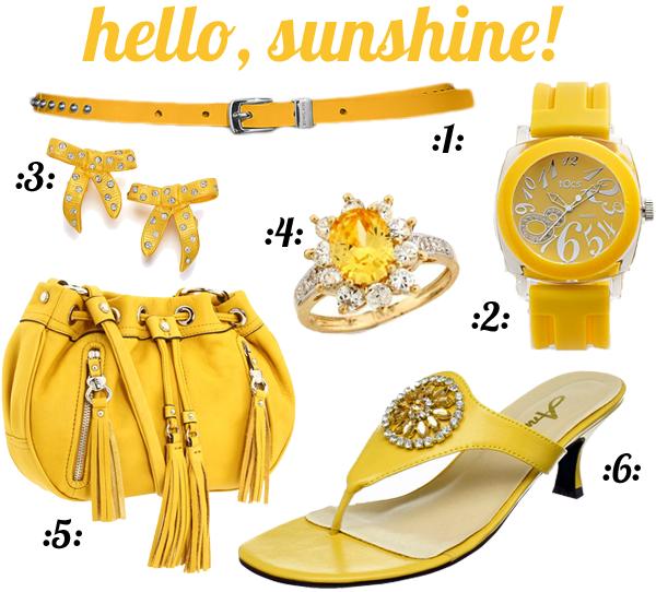 Hello, sunshine - yellow accessories