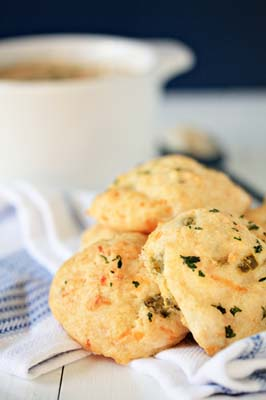 Cheesy Garlic Jalapeno Biscuits