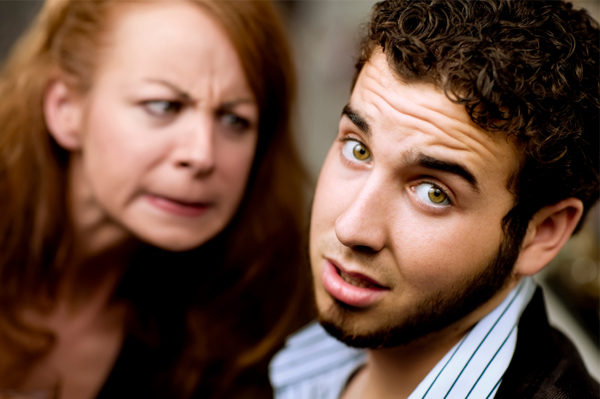 Woman nagging her boyfriend.