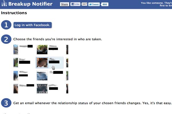 Facebook Breakup Notifier: Creepy?