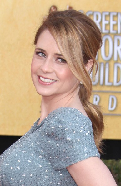 TOP 20 Hollywood's Celebrities Fashionable Ponytails Hairstyle 08 - Jenna Fischer