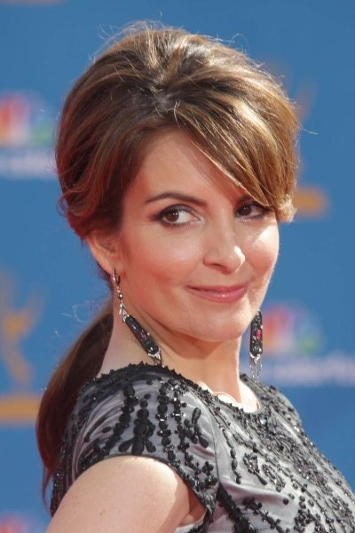 TOP 20 Hollywood's Celebrities Fashionable Ponytails Hairstyle 01 - Tina Fey