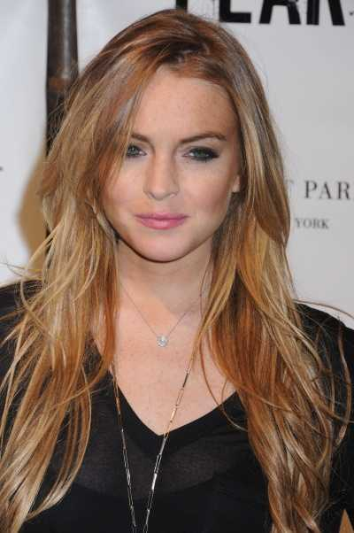 lindsay lohan hairstyles 2011. the front.