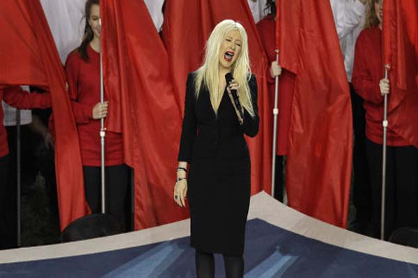 Christina Aguilera national anthem super bowl