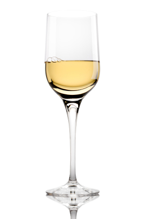 Full White Wine Glass