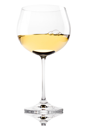 Soft White Wine Glass