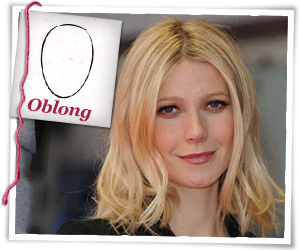 Gwyneth Paltrow with an oblong face shape
