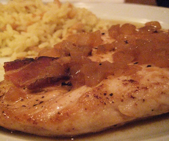 Tonight's Dinner: Chicken with Cider and Bacon