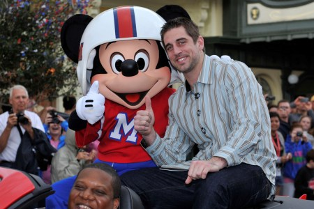 Aaron Rodgers visits Disneyland before David Letterman