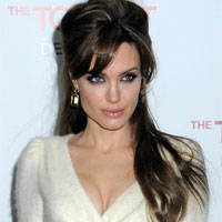angelina jolie romatic updo