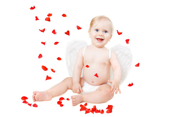 baby girl valentine love angel