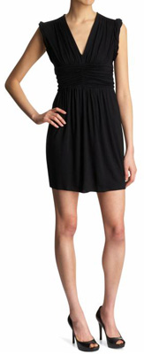 Trump Deep V Cinched Waist Dress