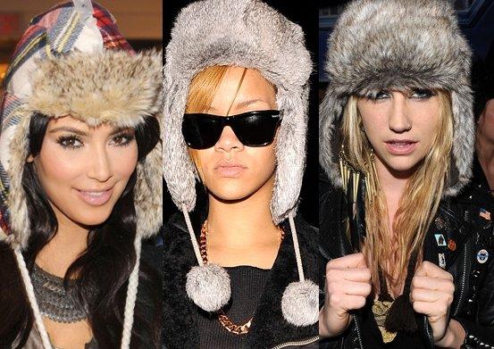 celebrity fur hats