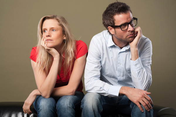 Couple on verge of break up