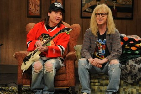 Mike Myers and Dana Carvey on SNL
