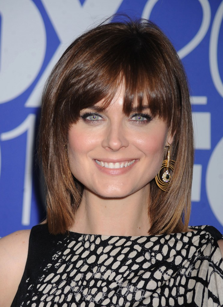 medium length bangs hairstyles. Blunt bangs are trendy, fashion-forward and definitely a huge change.