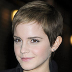 Emma Watson with blonde pixie hairstyle