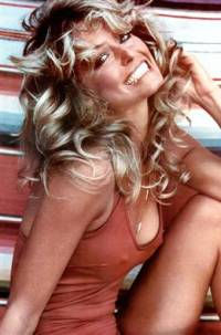 Farrah Fawcett red swimsuit