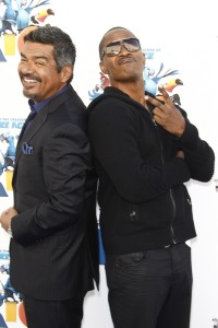 George Lopez and Jamie Foxx