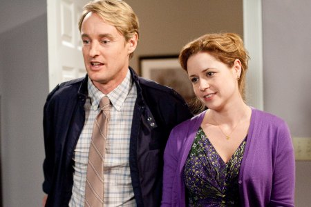 Jenna Fischer and Owen Wilson in Hall Pass