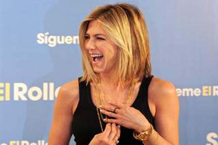Aniston's Beiber haircut