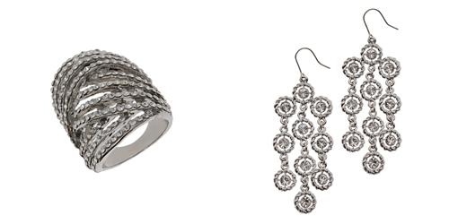 Diamond ring and earrings
