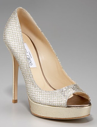 Jimmy Choo metallic heels