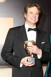 Colin Firth with his BAFTA